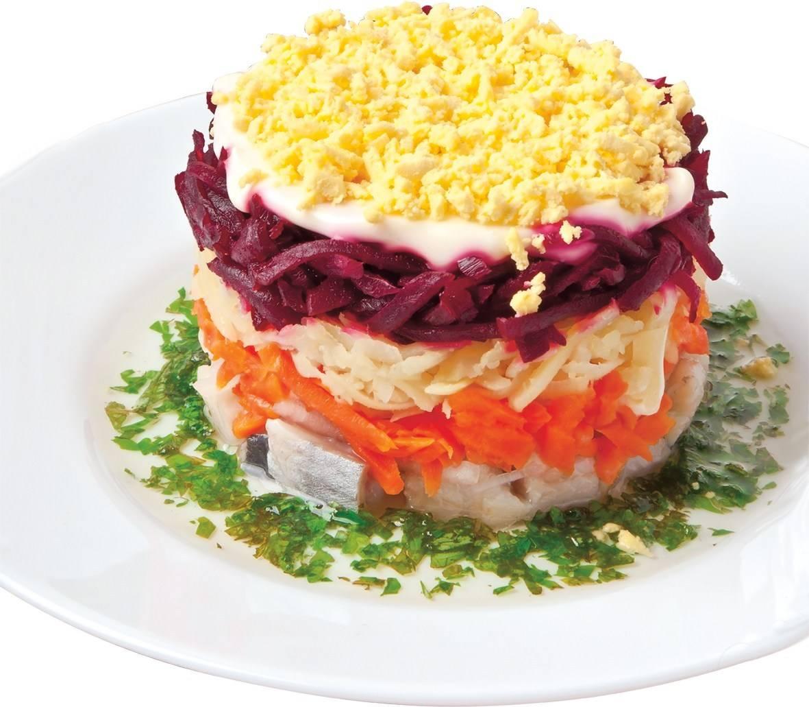 Как сделать салат сельдь под шубой по слоям