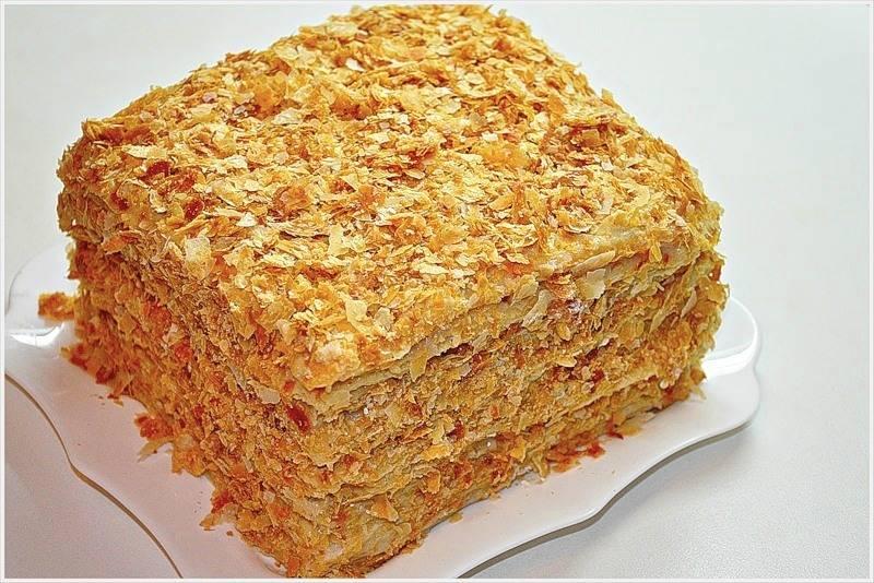 Торт классический наполеон рецепт