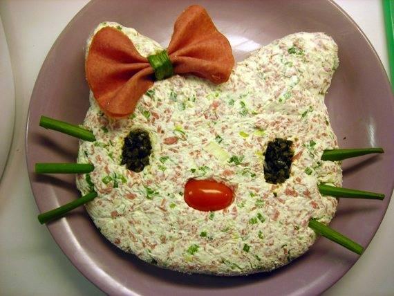 Как украсить салаты по детски