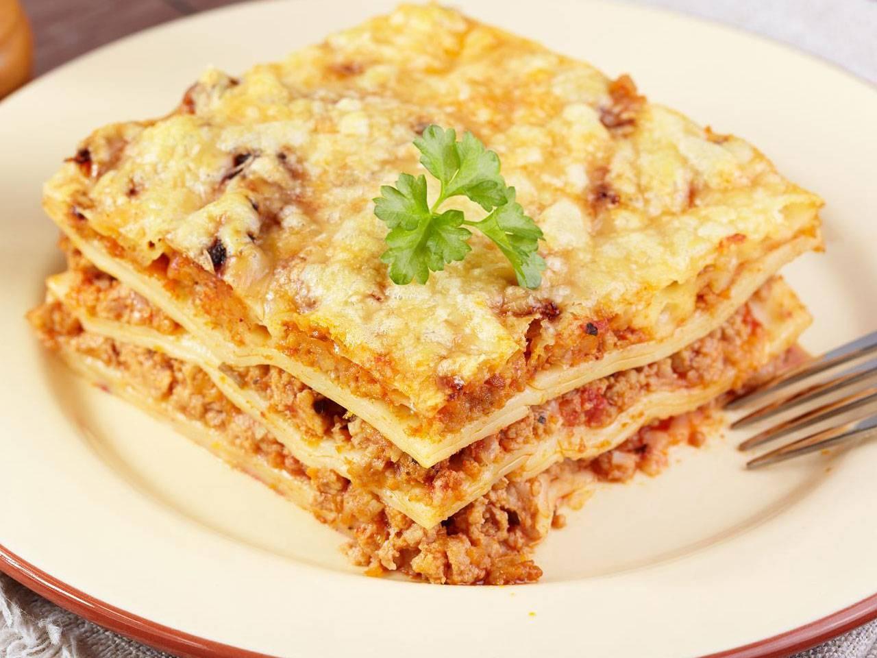 Лазанья с мясом рецепт фото пошагово