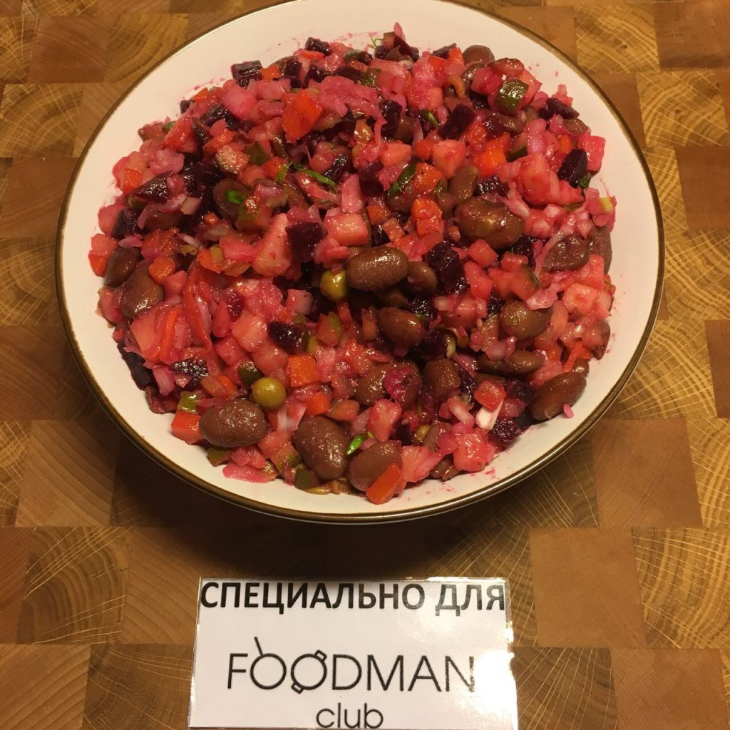 Винегрет рецепт с фасолью и квашеной