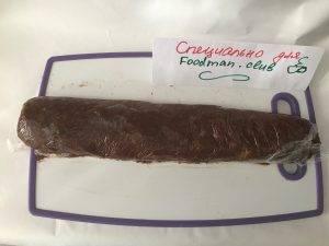 Шоколадная колбаса без выпечки - 4