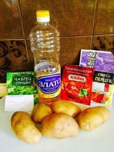 Картофель по-деревенски с зеленью - 0