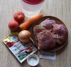 Подлива из куриного мяса с овощами - 0