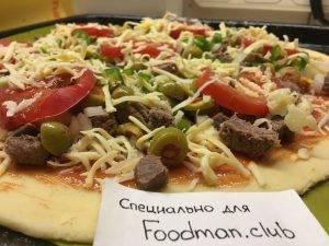 Пицца с говядиной и перцем чили - 12