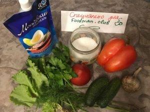 Салат из свежих овощей - 0