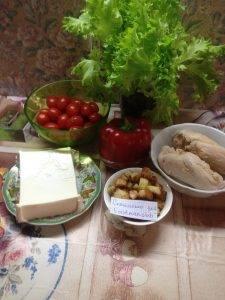 Салат Цезарь с сыром фета - 0