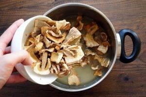 Щи из квашеной капусты с грибами - 1