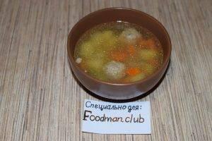 Суп картофельный с фрикадельками - 10
