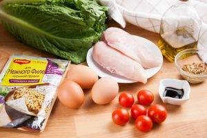 Свежий салат с курицей и бальзамическим соусом - 0