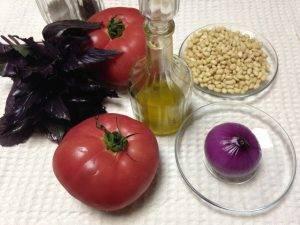 Салат с помидорами и кедровыми орешками - 0