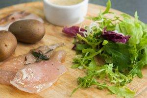 Салат с курицей и беконом «Горчица» - 0