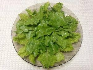 Зеленый салат с клубникой - 0