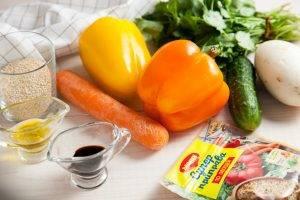 Теплый салат с киноа и овощами - 0