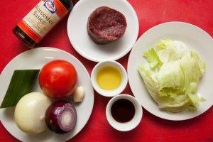 Теплый салат с телятиной и луком-фри - 0