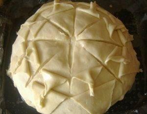 Пирог с рыбой и рисом - 0