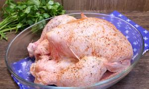 Курица, запеченная в духовке целиком - 0