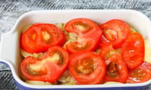Куриные голени, запеченные с картофелем и томатами - 4