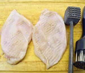 Куриные грудки в сырно-грибном кляре - 0