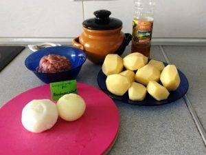 Картофель с фаршем (мясом) в горшочках - 0