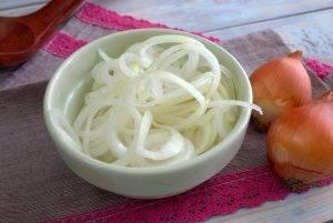 Картофель с маринованным луком и сыром - 0