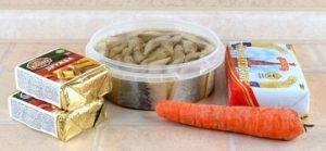 Закуска из селедки и плавленого сыра - 0
