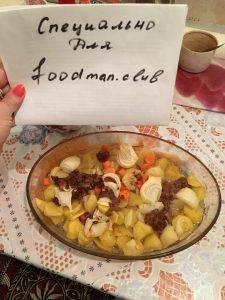 Картофель, запеченный в духовке с тушенкой - 4
