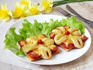Мини-пиццы цветочки - 8