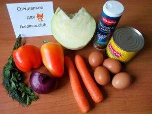 Сочный салат из капусты и кукурузы - 0