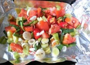 Сибас с овощами в духовке - 0