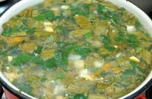 Суп из сайры с щавелем и шпинатом - 2