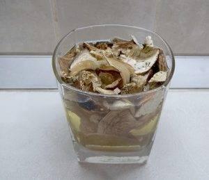 Суп из белых грибов с чечевицей - 0