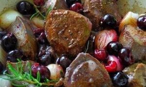 Печень с вишней и розмарином - 0