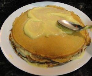 Блинный торт с заварным кремом - 0