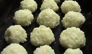 Колобки из риса с ветчиной и сыром - 1