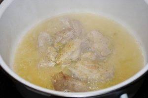 Тушеная свинина с картофелем и сливками - 0