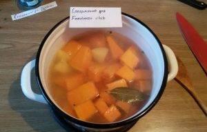 Суп-пюре с тыквой, курицей и чечевицей - 3