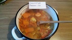 Суп-пюре с тыквой, курицей и чечевицей - 6