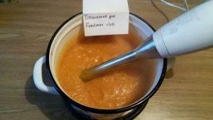 Суп-пюре с тыквой, курицей и чечевицей - 8