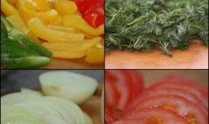 Тушеная печень с овощами - 0