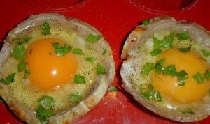 Корзинки из ветчины, пармезана и яиц - 1