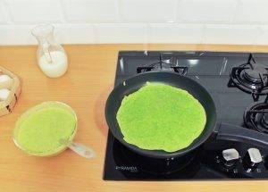 Зелёные блины со шпинатом - 1
