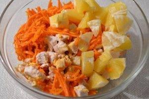 Салат из корейской моркови, апельсина и курицы - 1