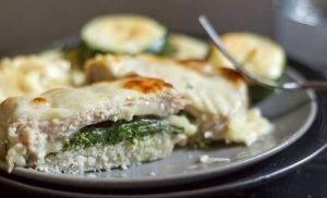 Запеченный эскалоп со шпинатом и сыром - 2
