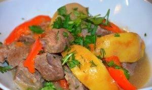 Тушеная баранина с овощами и айвой - 5