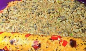 Печеночный рулет с гречкой и овощами - 5