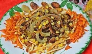 Салат с говяжьей печенью - 6