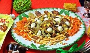Салат с говяжьей печенью - 7