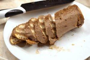 Десерт из сливочного сыра, нутеллы и печенья - 4