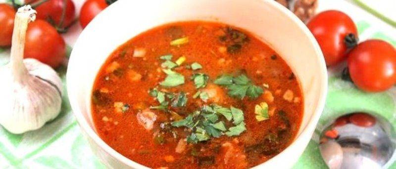 Суп харчо из индейки с рисом